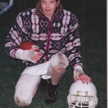 Chipped nail polish and muddy knees: victoria pee-wee football most improved player 1997.